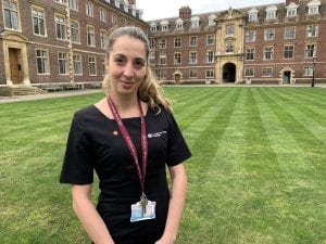 Noemi Civitarese of St Catharine's College is named ICT Apprentice of the Year in annual awards