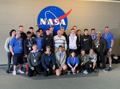 Moonwalking is part of an educational trip for our Engineering Students!