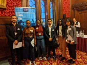 International students come together at The Houses of Parliament