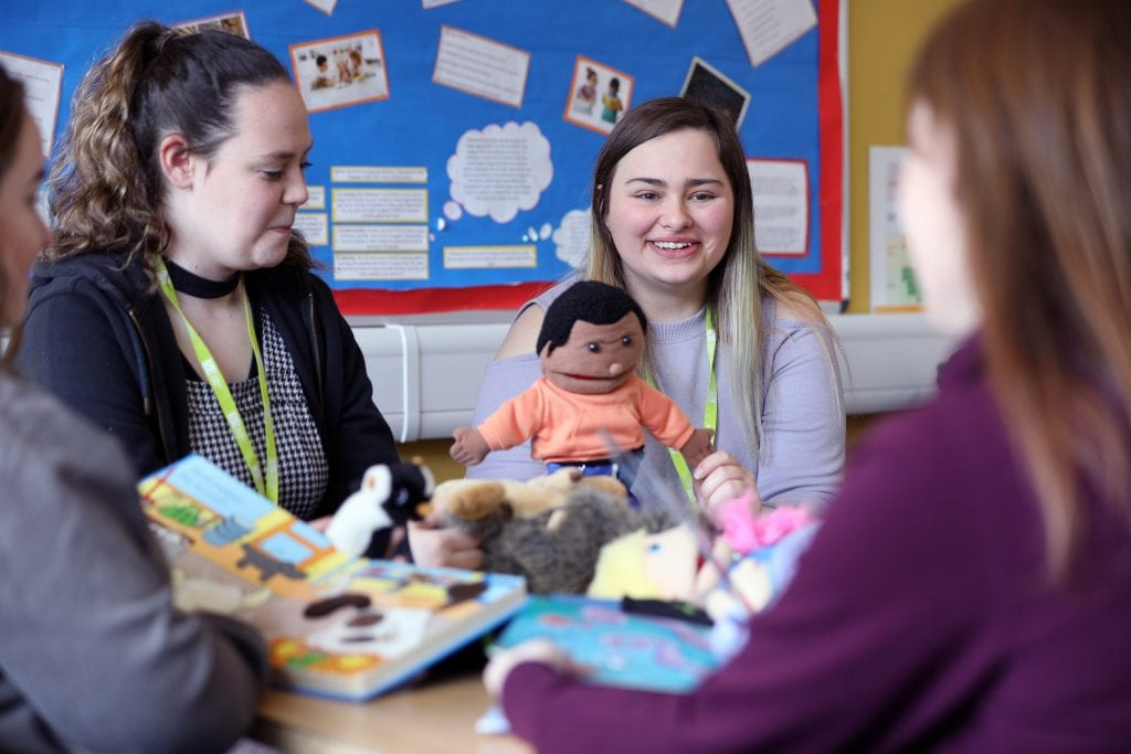 Childcare students at Huntingdon